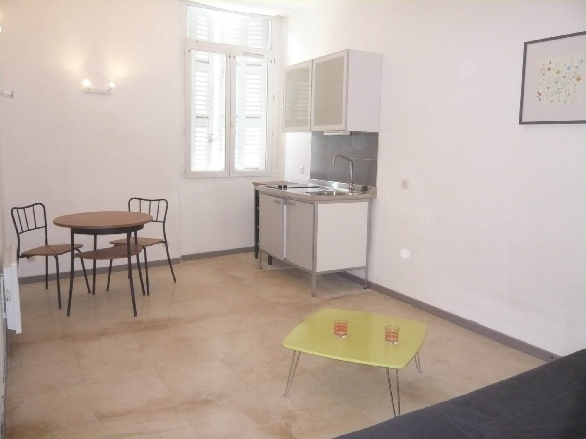 Ventes appartement t1 f1 marseille 07 quartier saint for Appartement meuble marseille